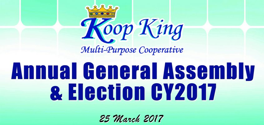 Koop King MPC Annual General Assembly & Election CY2017